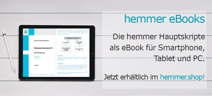 - hemmer e-books - Die hemmer Hauptskripte als e-Book für Ihr Smartphone, Tablet und PC.